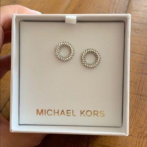 NIB Michael Kora Pave crystal stud earrings